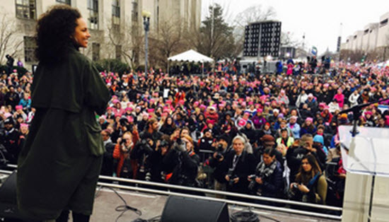 Alicia Keys Women's March