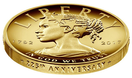 Black Lady Liberty coin