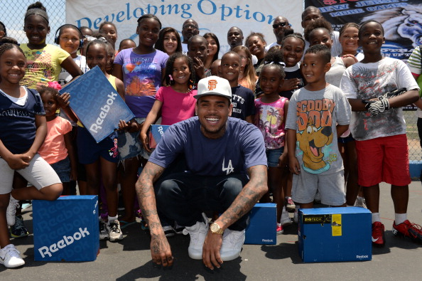 """Chris Brown Attends """"WE US: Walk Everywhere In Unity's Shoes"""" Event As Part Of His Unity Campaign"""