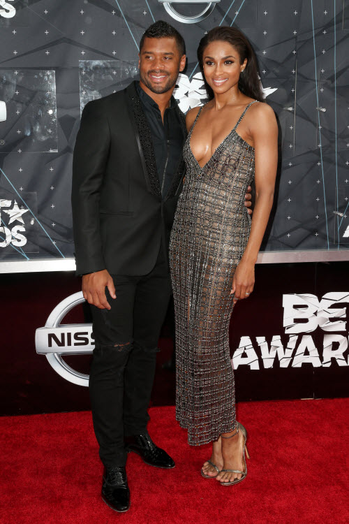 Ciara Russell Wilson 2015 BET Awards