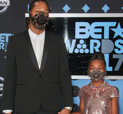 Future and Daughter Decide to Leave the Mask On During the ...  Future Rapper Daughter