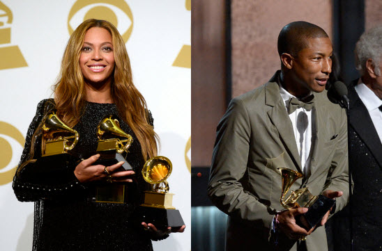 Grammys2015 Beyonce and Pharrell