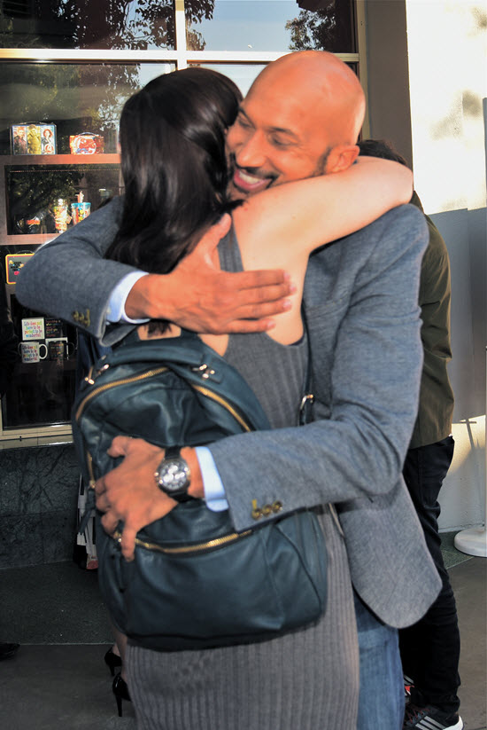 Keegan Michael Key fan hug