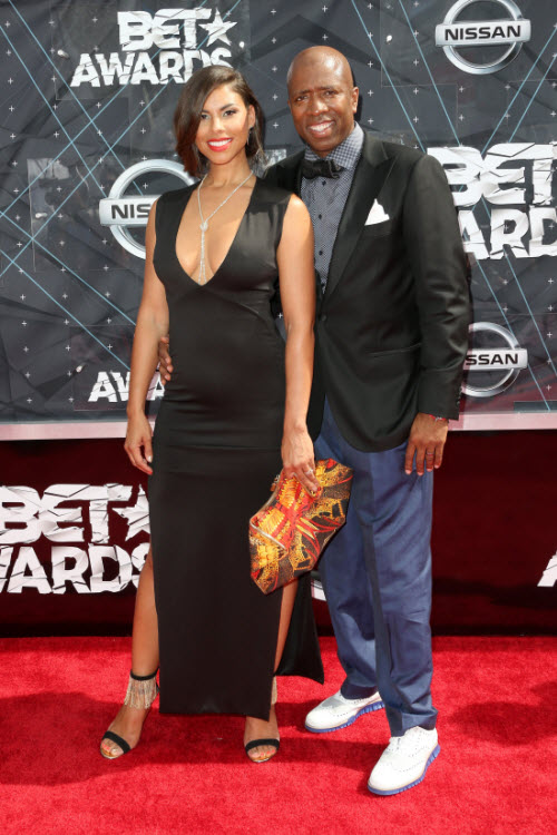Kenny Smith Gwendolyn Osborne 2015 BET Awards