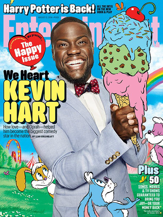 Kevin hart happy face