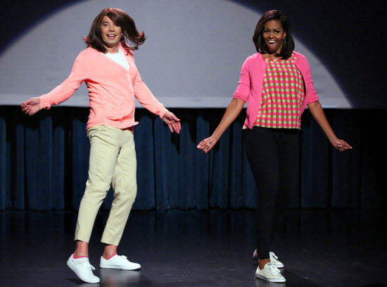 Michelle Obama Jimmy Fallon Dance