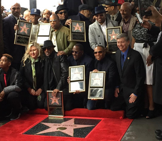 New Edition Hollywood Walk of Fame