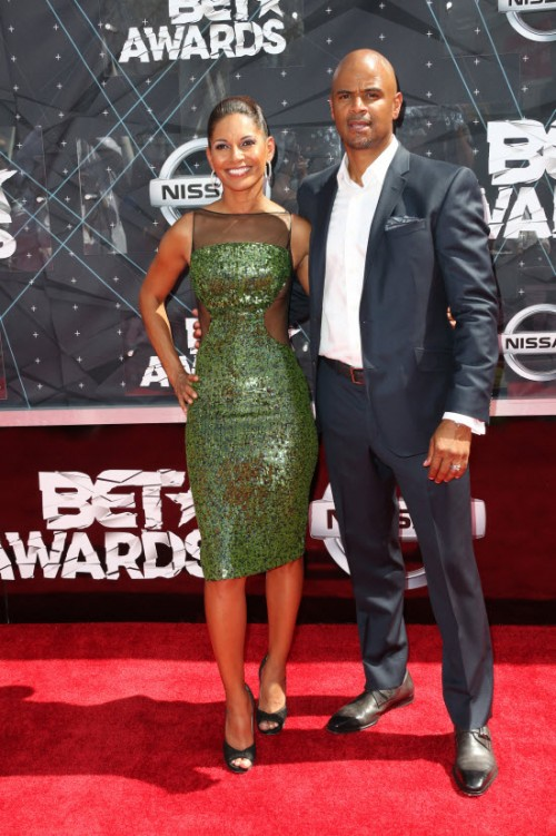 Salli Richardson-Whitfield Dondre Whitfield 2015 BET Awards