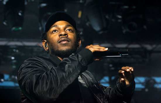 CLEVELAND, OH - OCTOBER 30: Kendrick Lamar performs during the Cleveland Cavaliers & Turner Sports Home Opener Fan Fest on October 30, 2014 in Cleveland, Ohio. (Photo by Angelo Merendino/Getty Images)